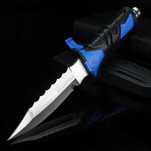 Открытый Нож для дайвинга походный охотничий резиновый ручной нож для рыбалки походные ножи с фиксированным лезвием