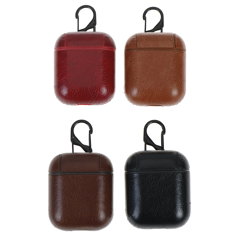 1pc Luxury Bag Bluetooth Wireless Earphone Leather Case Cover For Air Pods Cover Charging Box Cases Travel Accessories