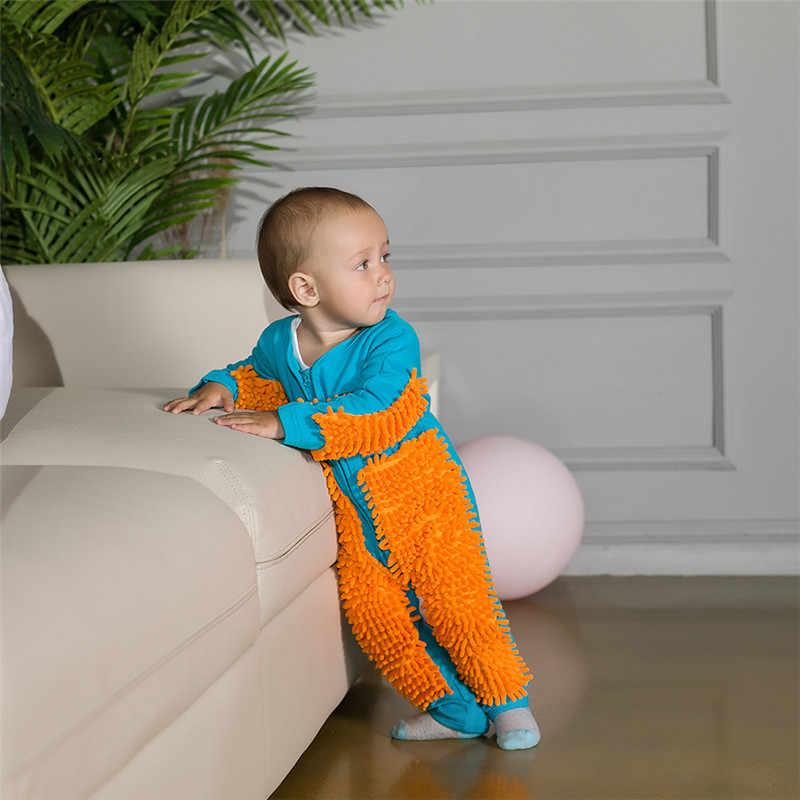 Pasgeboren Baby Boy Kleding Baby Jumpsuit Een stuk Mop Pak Baby Onesies Romper Kinderen Kleding Rits Peuter Kruipen Kleding