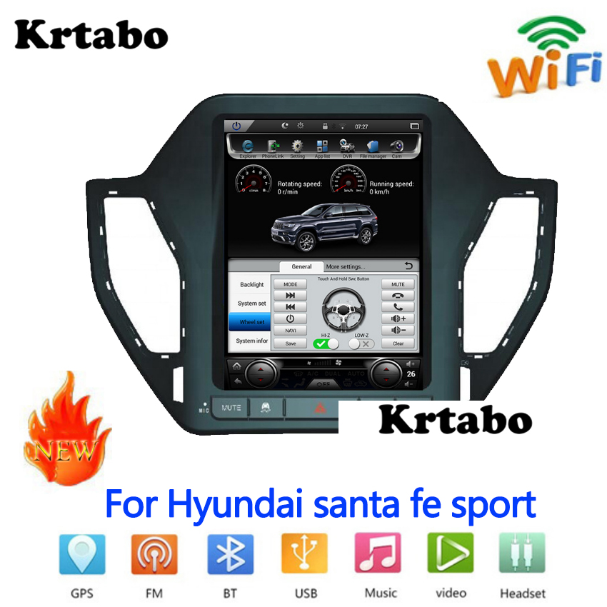 Für hyundai santa fe sport Auto radio Android multimedia player Auto touch screen GPS Navigation Unterstützung Carplay