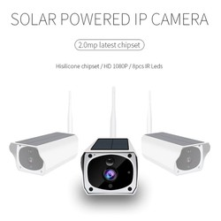 New Camera WiFi Solar Powered PIR Motion Detection Phone Remote Monitoring Security Camera