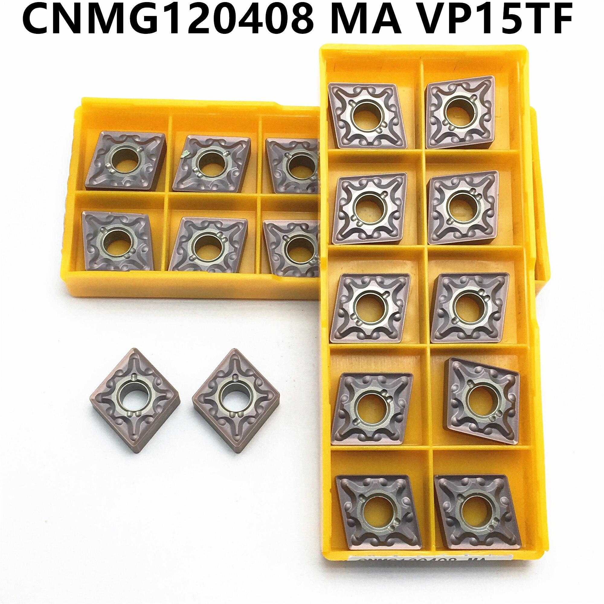 10PCS CNMG120408 MA VP15TF External Turning Insert Carbide Insert CNMG 120408 Milling Tool CNC Lathe Tool