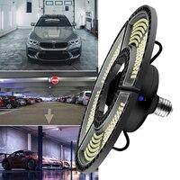 Luz LED de garaje de WENNI 110V bombilla LED E27 60W 80W 100W 120W E26 lámpara LED de energía impermeable 220V bombilla UFO iluminación exterior