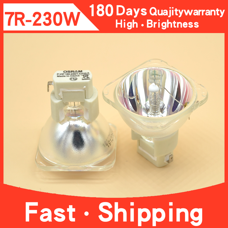 7R 230W Metal Halide Lamp Moving Beam Stage Lamp 230 Beam P-VIP 180-230/1.0 E20.6 For Osram