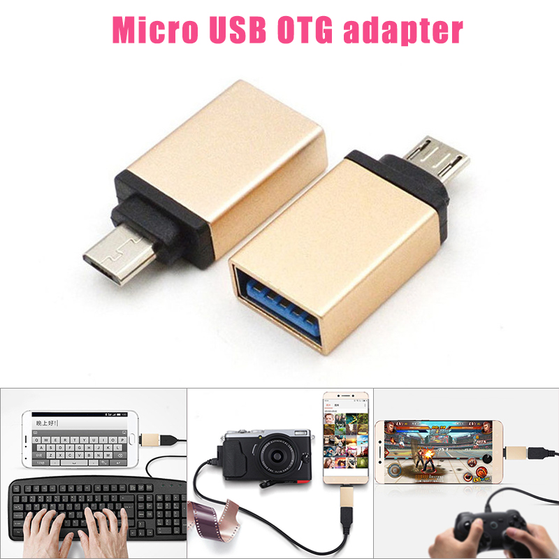 Micro USB To USB OTG Adapter Micro USB Male To USB Female For Smartphone Cell Phone Game Converter PUO88
