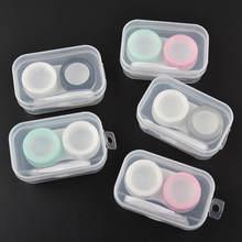 ABS Multicolor mężczyźni kobiety podróżowanie przenośny PP kontakt futerał na okulary kontakt ekologiczny bezpieczny szkiełka Unisex schowek