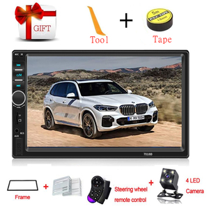 2 Din Car Radio Multimendia Video Player 7inch Bluetooth Mirror Link HD Touch Screen Car Stereo Player With Rear View Camera