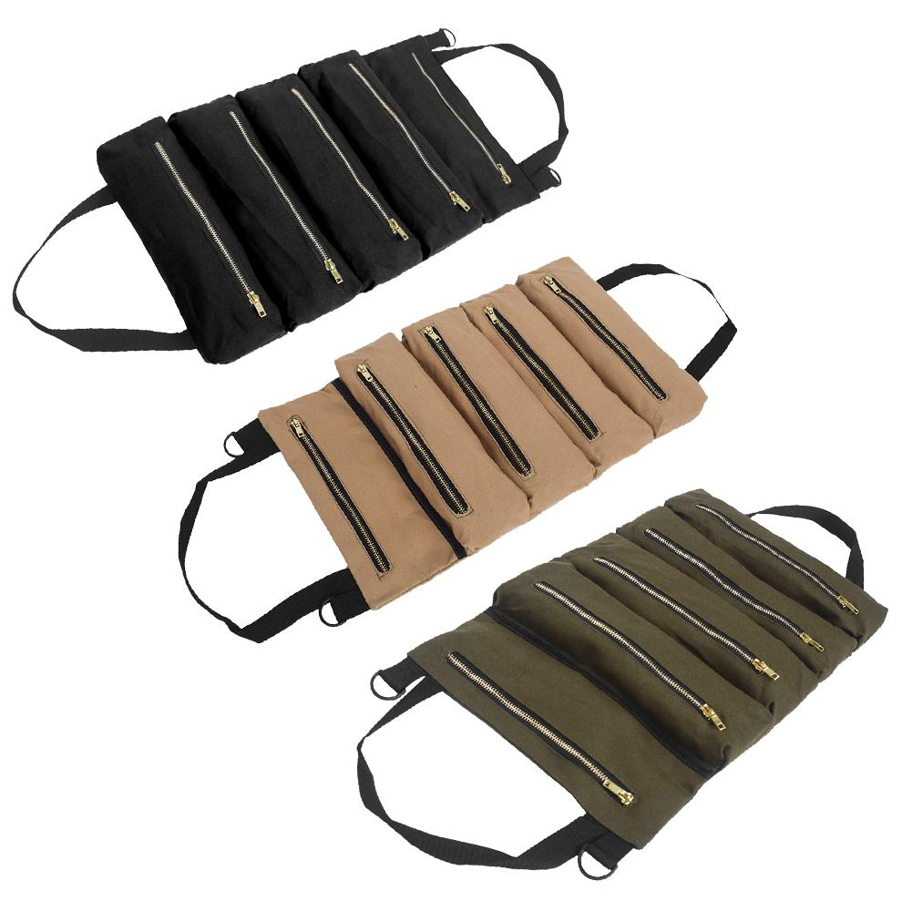 Kit Storage-Bag Interior Multifunctional Multi-Layer Portable Car 12-An-Canvas Suspension-Bag