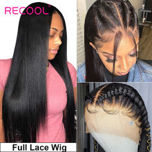 Perruques Full Lace Wig cheveux naturels-Recool | Perruques Lace Wig, cheveux humains, pre-plucked, avec Baby Hair, sans colle, perruque cheveux humain