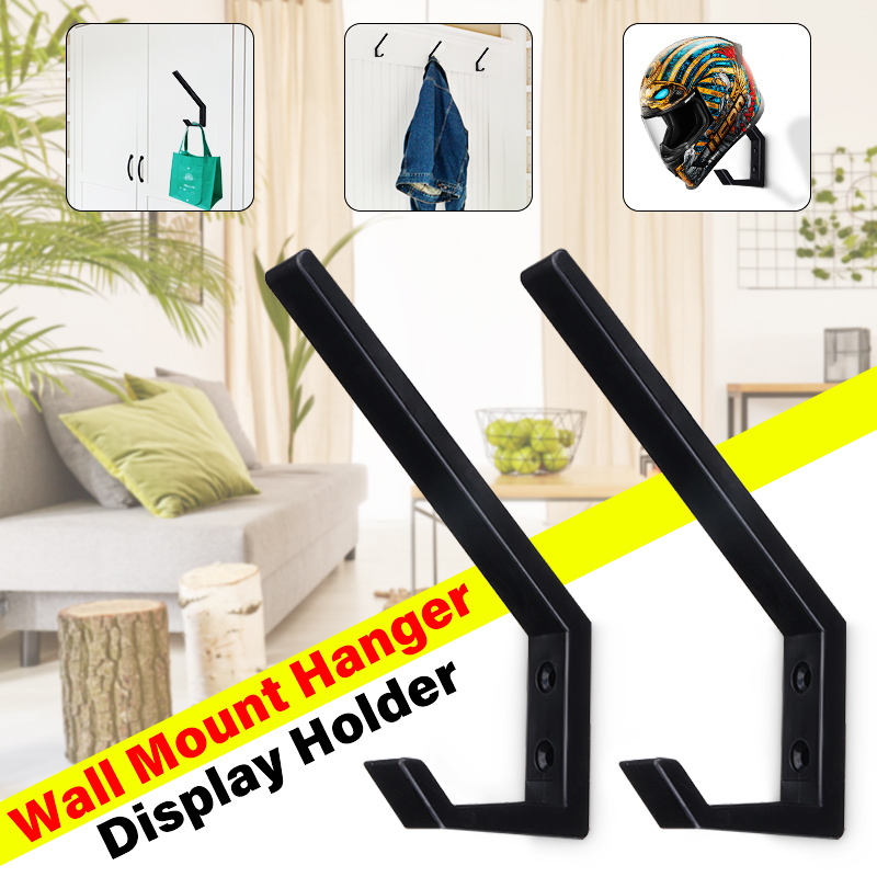 1pair Multi-Purpose Solid Hooks Helmet Holder Clothing  Bags Keys Hook For Home Kitchen Cabinet Wall Mount Hanging