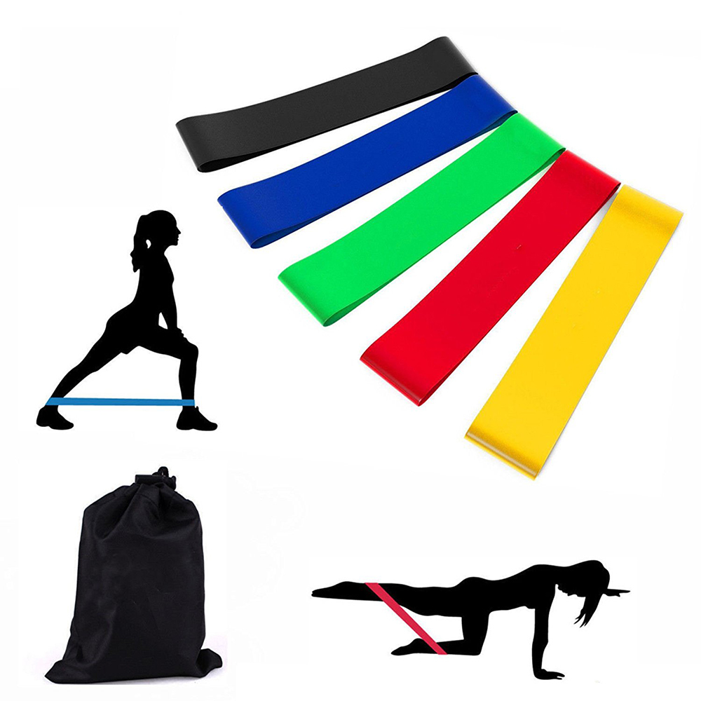 5PC/Set Resistance Bands Fitness Gum Workout Rubber Loop Latex Yoga Gym Strength Training Band Athletic Equipment D40