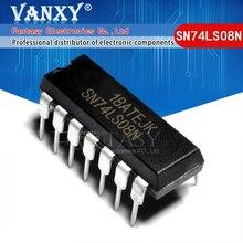100 Uds., SN74LS08N DIP14, SN74LS08 DIP, HD74LS08P, 74LS08, SN74LS08, HD74LS08P DIP 14, nuevo y original IC