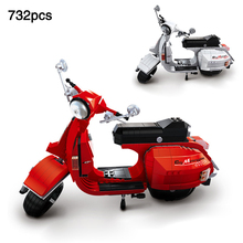 Classic City The Vespa Motorcycle Genuine Creative Technic compatible legoingly Blocks Building Toys For Kids gift