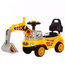 LazyChild 2021 Children Excavator Can Sit To Ride Roller Coasters Large Music Toy Truck Excavator Undertakes Toys