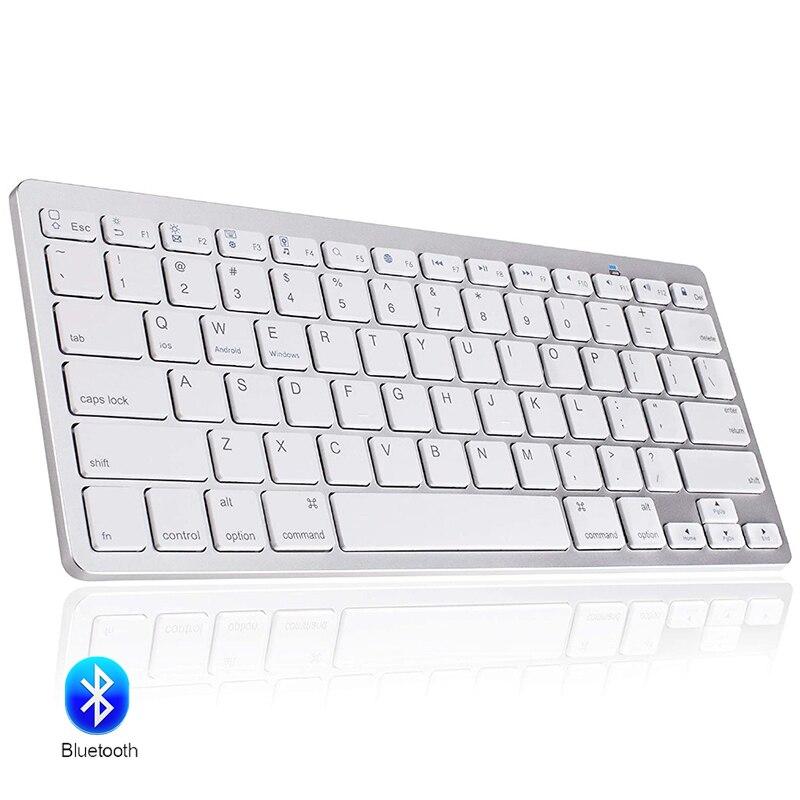 78 teclas de teclado sem fio bluetooth ultra fino russo/alemão/coreano/espanhol/francês/árabe/tailandês para ipad/windows os/mac/android