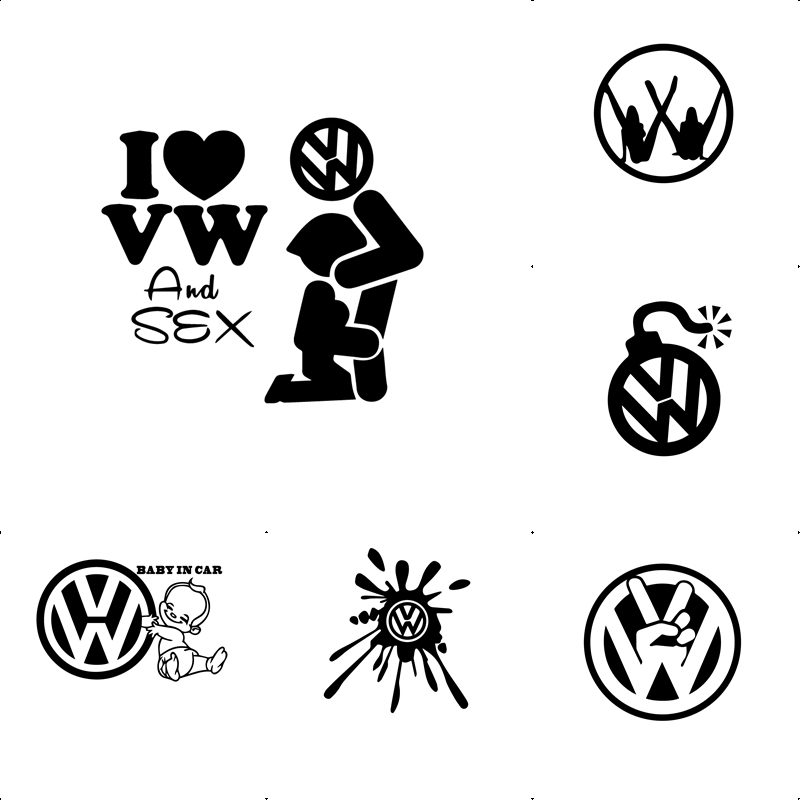 Funny Car Logo Decoration Sticker Cartoon Characters Voiture Rearview Mirror Side Decal Stripe Vinyl Truck Vehicle Body Stickers