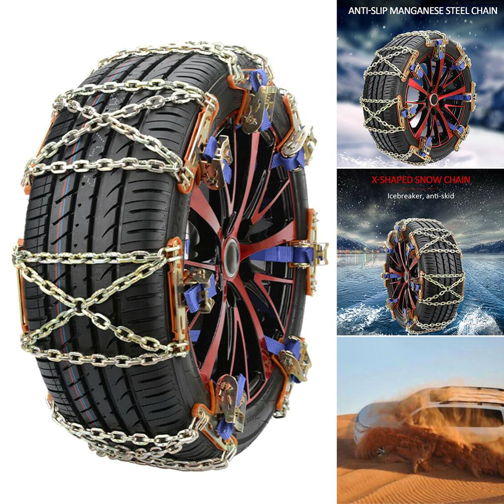 High Quality 1X Wheel Tire Snow Anti-skid Chains for Car Truck SUV Emergency Winter Universal Wholesale Quick delivery CSV image