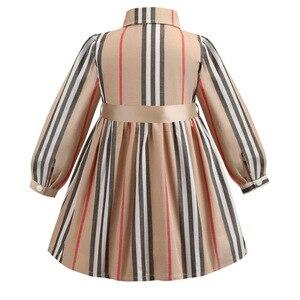 Image 3 - 여자 드레스 긴 소매 2020 봄 아이 드레스 스트라이프 보우 어린이 공주 드레스 유아 소녀 의류 2 6 년