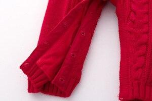 Image 5 - Śpioszki dla niemowląt dzianiny zimowe ciepłe noworodka Bebes kombinezony z długim rękawem stroje jednokolorowe niemowlę dziewczynki kombinezony dla dzieci chłopcy kostium