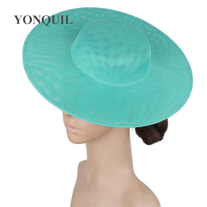 Ladies Women 30 CM Big Party Hat Bride Wedding Fascinators Base For Occasion Derby Vintage Headpiece Mariage Chapeau Accessories