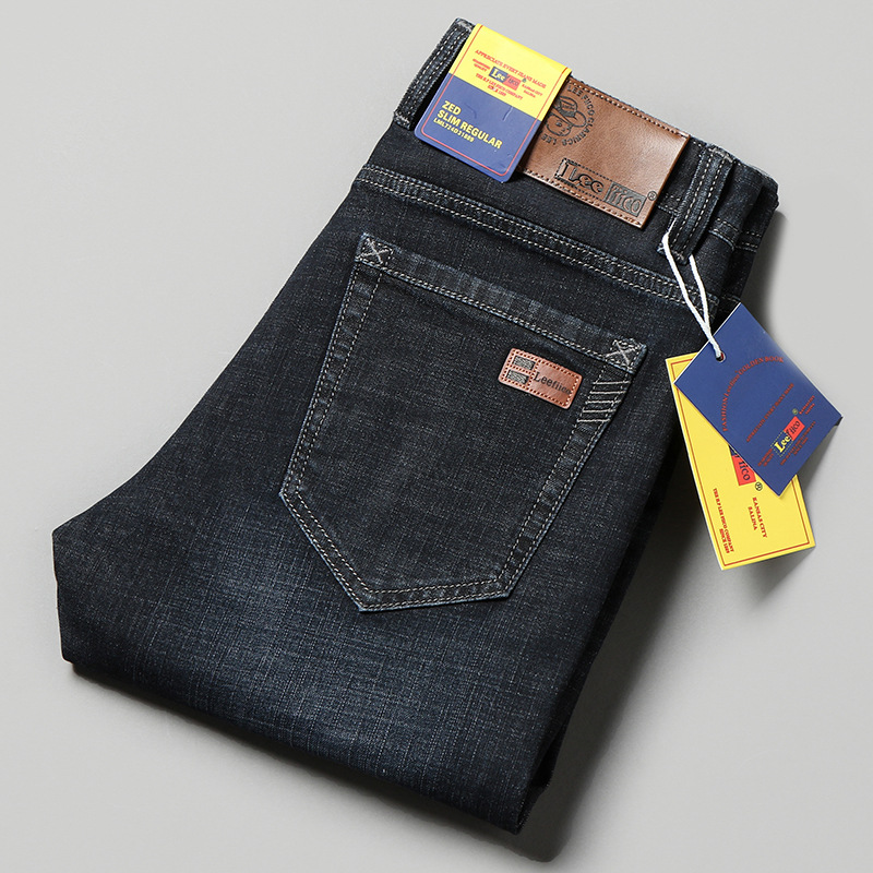 Leefiico Genuine Product Jeans Men Loose Straight Summer New Style Business Casual Popular Brand Thin Men's Trousers
