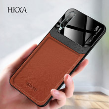 Huawei Honor 20 Lite Case Cover Mirror Glass Hard PU Leather Back Cover For Huawei Honor20 20 Lite Pro 20Lite 20Pro Phone Coque