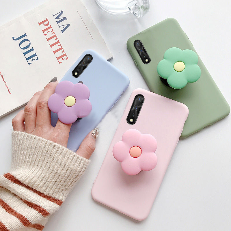 3D <font><b>silicone</b></font> cartoon girl cute phone holder stand soft <font><b>case</b></font> for huawei <font><b>honor</b></font> <font><b>7s</b></font> 7x 8 lite 8c 8a 7a 7c pro 5.7 5.45 5.99 cover image