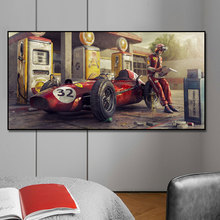 Gas Station F1 Car Poster Print On Canvas Painting Nordic Poster Wall Art Picture For Living Noom Home Decoration
