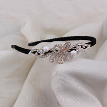 Earofcorn Rhinestone Flower Hairbands for girls Decoration Jewelry Headband  Hair Band Bridal Party Hair Accessories korea hair accessories wool weaving wide side toothed hairbands sweet headband hair band headbands for girls