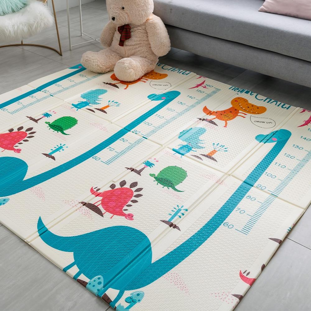Baby Crawling Pad Floor Puzzle Mat Fruits Foam Carpet Toddler Activity Blanket