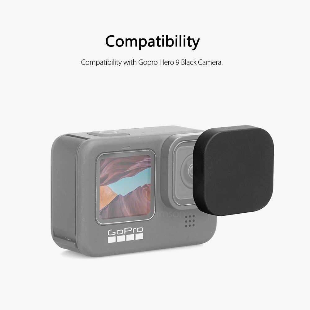 Vamson Untuk Gopro Hero 9 Hitam Pelindung Layar Anti Gores Lensa Pelindung Film untuk Pergi Pro 9 Aksesoris Kamera VP730