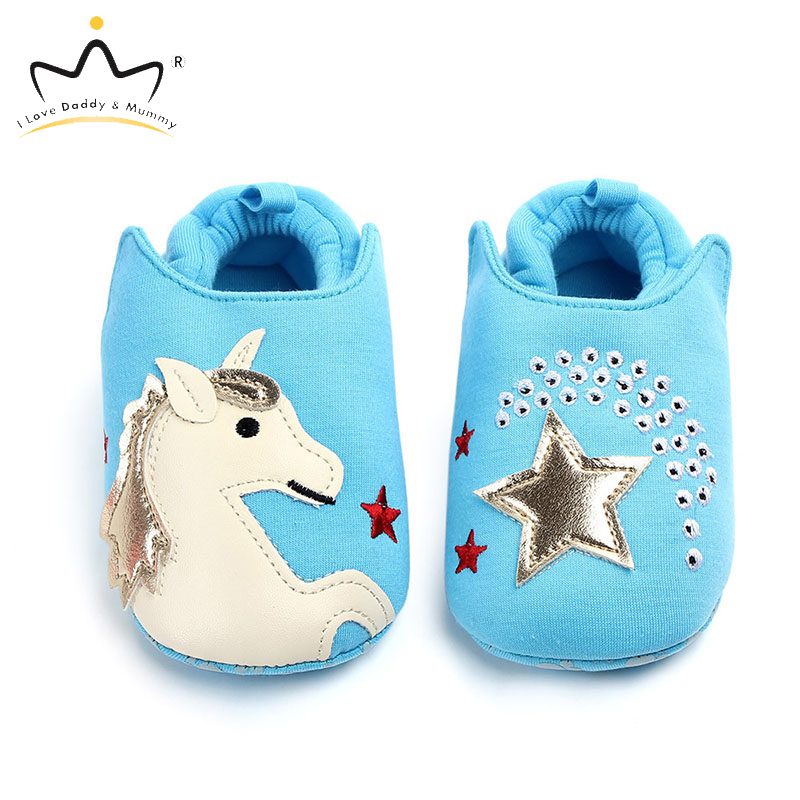 Soft Cotton Cartoon Animal Cute Unicorn Bear Baby Shoes Soft Soled Anti Slip Toddler Shoes Newborn Boys Girls Shoes
