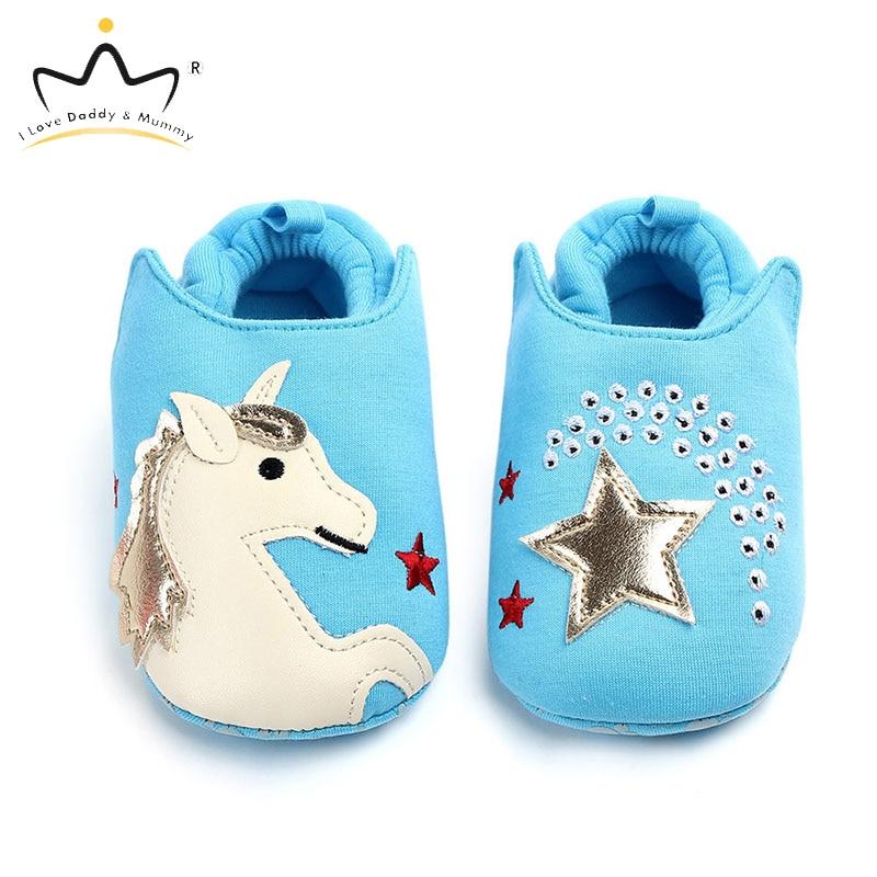 Soft Cotton Cartoon Animal Cute Unicorn Bear Baby Shoes Soft Soled Anti Slip Toddler Shoes Newborn Boys Girls Shoes