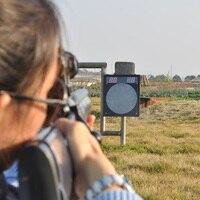 Shooting Game Scoring Target Remote Reset Shooting Digital Target for Water Gel Beads Outfoor Fun Black