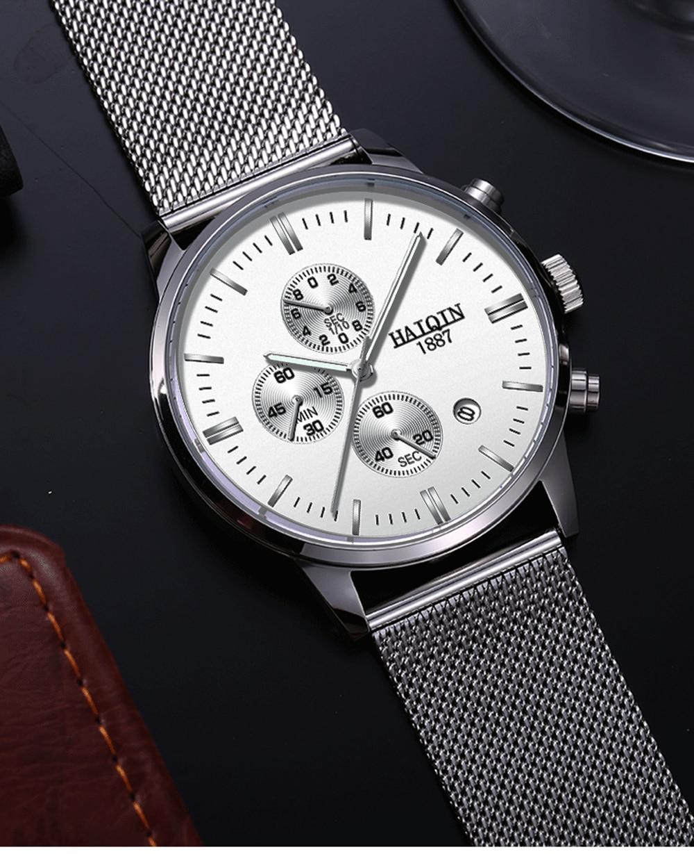 H29b73da7c1d04e13b5a3bc80f4c2077ft HAIQIN 2019 Fashion Mechanical mens watches top brand luxury sport wristwatch men waterproof Quartz mens clock Relogio Masculino