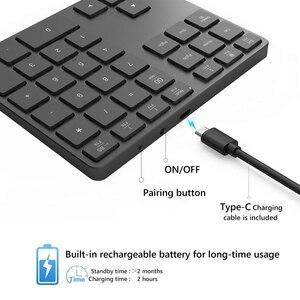 Image 5 - Avatto アルミ合金 35 キー bluetooth ワイヤレステンキー、デジタルキーボード windows 、 ios 、 mac os 、アンドロイドタブレットノート pc
