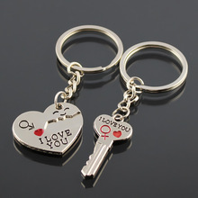 12 Style Couple Keychain Creative Good Friend Key Bag Pendant Valentines Day Gift
