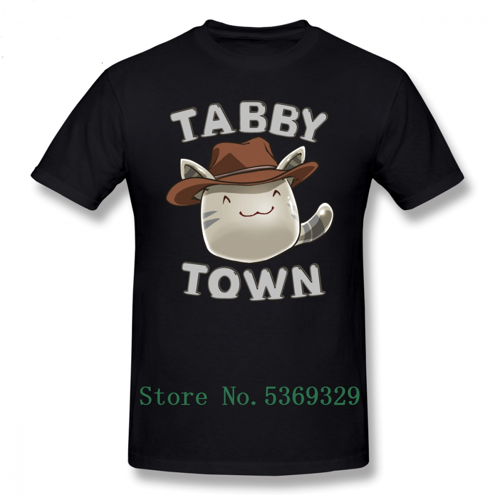 <font><b>Slime</b></font> Rancher <font><b>T</b></font> <font><b>Shirt</b></font> Tabby Town <font><b>T</b></font>-<font><b>Shirt</b></font> Short Sleeve 5xl Tee <font><b>Shirt</b></font> Awesome Graphic Male Tshirt Cotton image