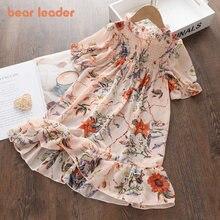 Bear Leader – Robe d'été en mousseline de soie pour filles, tenue princesse décontractée pour enfants