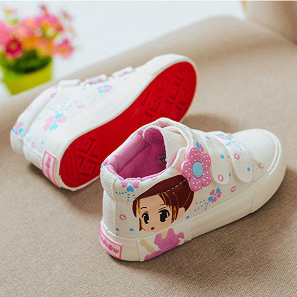 Kid Shoes Girls Canvas Shoes Girls Safety Shoes With Breathable And Lace For Women Gilrs