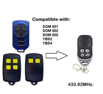 For DOM501,DOM502,DOM505,YBS2,YBS4 433.92MHZ replacement Rolling code garage door remote control free shipping nice flo2r s replacement garage door transmitter free shipping