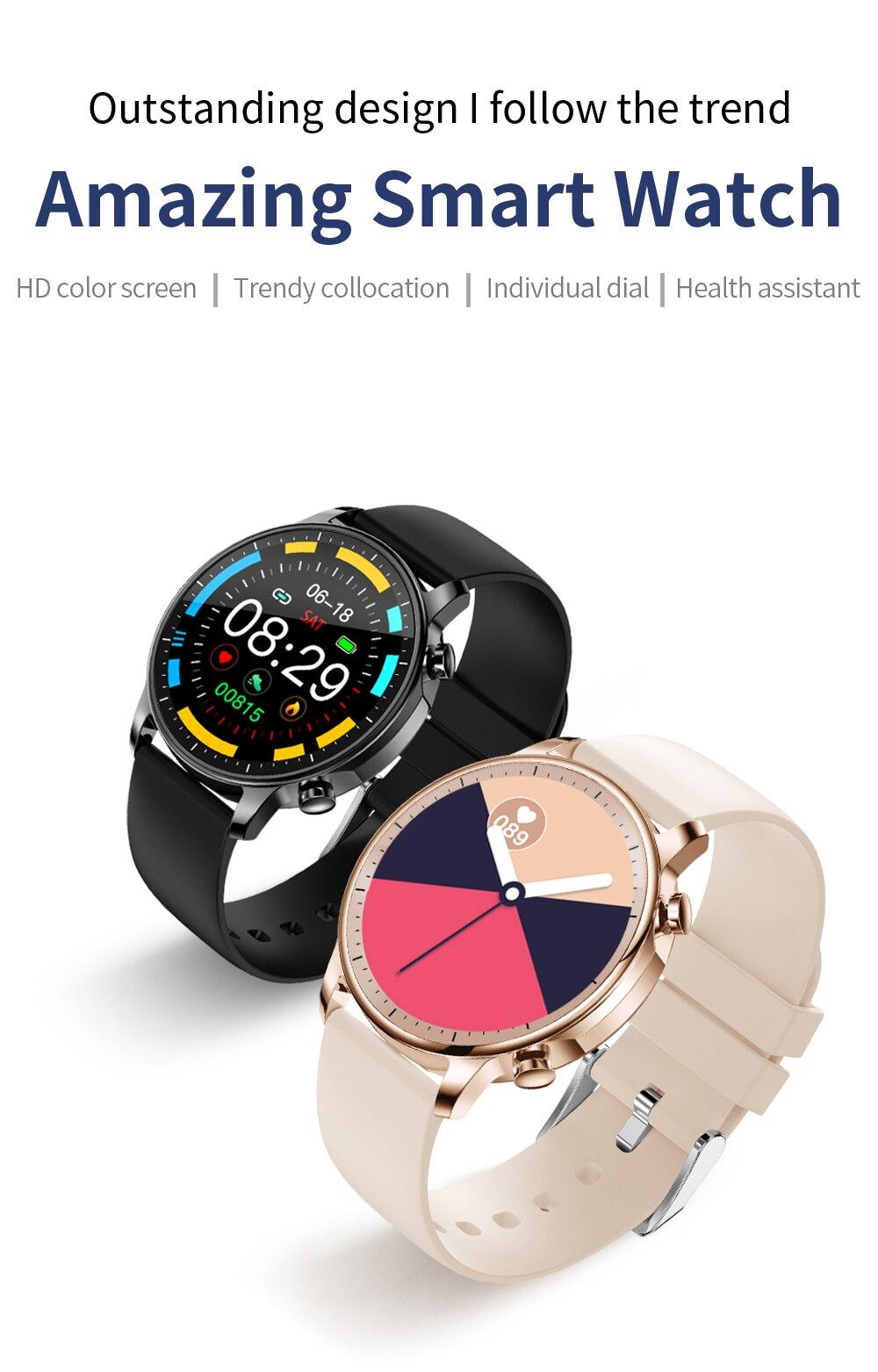 H29b8334fe94e4f54897796a0a2768a5dl COLMI V23 Women Smart Watch Full Touch Fitness Tracker IP67 Waterproof Blood Pressure Smart Clock Men Smartwatch
