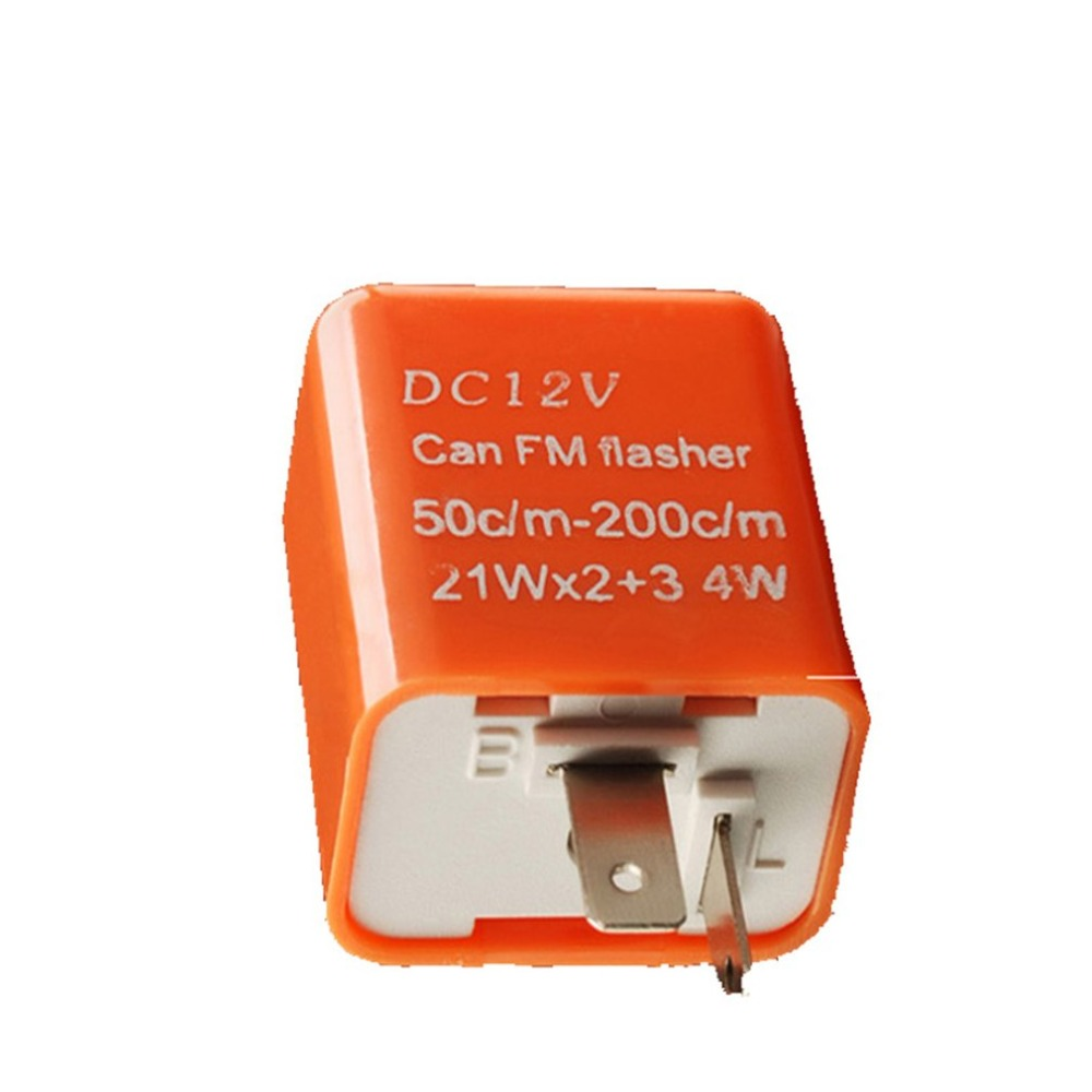 12V 2 Pin Motorcycle Blinker Adjustable LED Flasher Relay Turn Signal Indicator Hyper Flashing