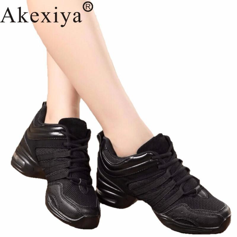 Akexiya Women Black Red Gold White Dance Shoes  Jazz Hip Hop  Sneakers For Woman Platform Dancing Ladies Fitness