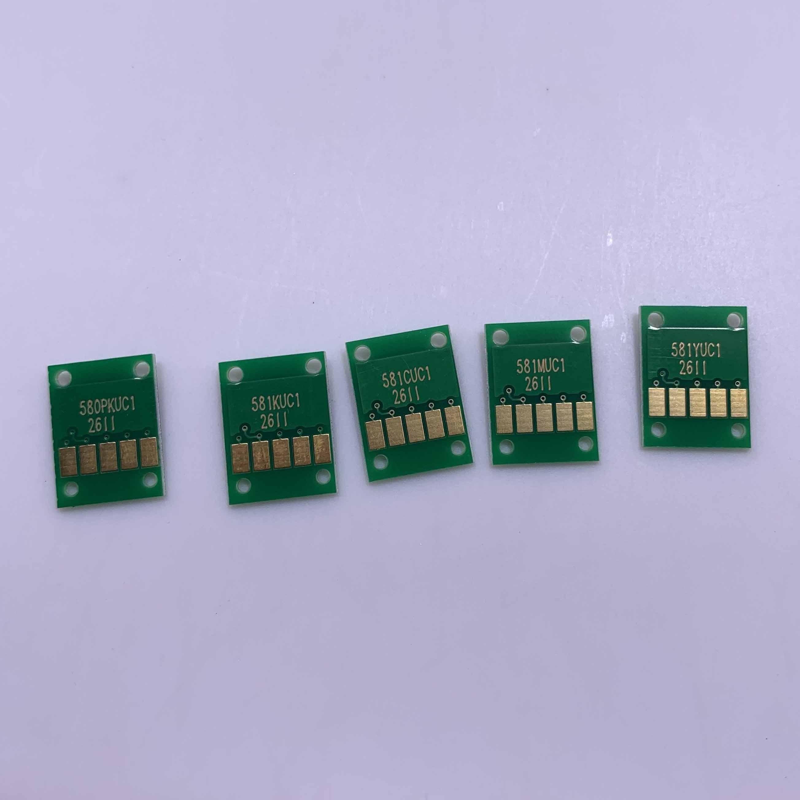 YOTAT PGI-580XL Permanent Chip PGI580 PGI-580 CLI-581 For Canon PIXMA TR7550 TR8550 TS6150 TS6151 TS8150 TS8151 TS8152 TS9150