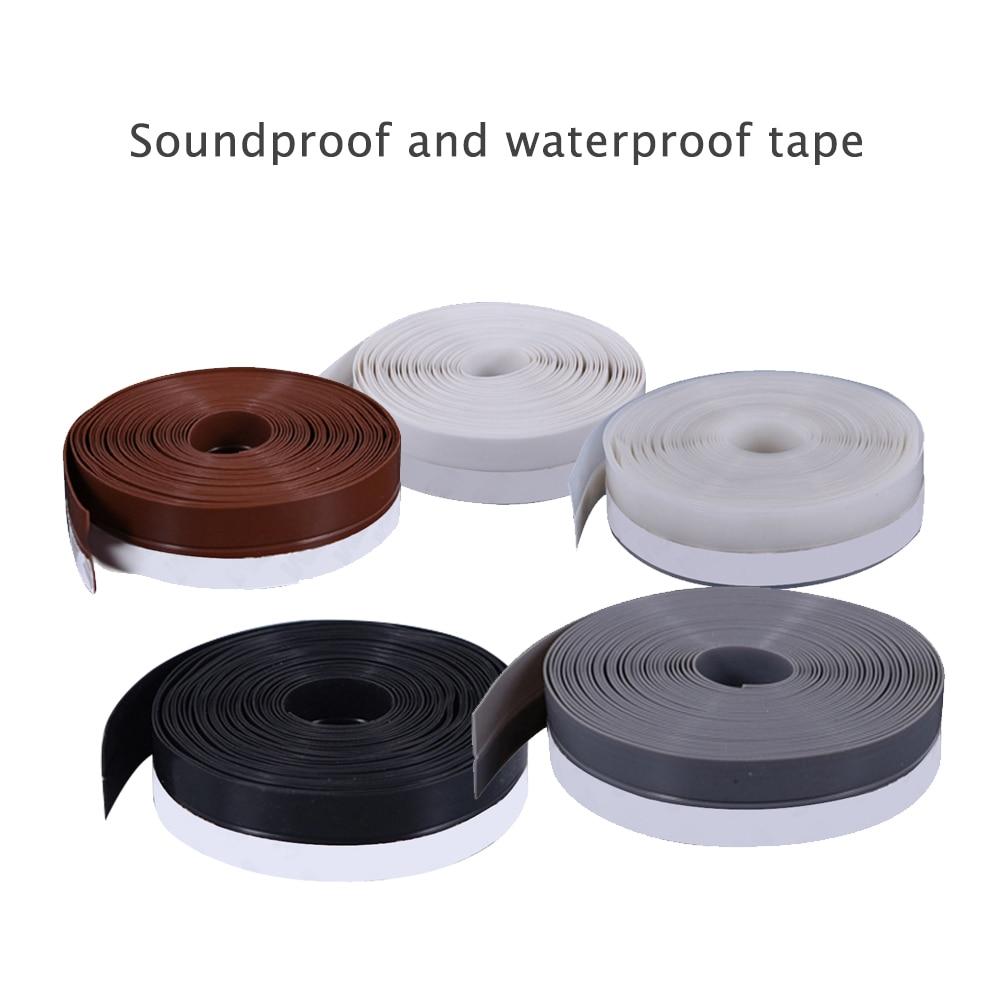 Tape Bathroom Door Window Wall Sticker Sealing Strip Silicone Rubber Moldproof