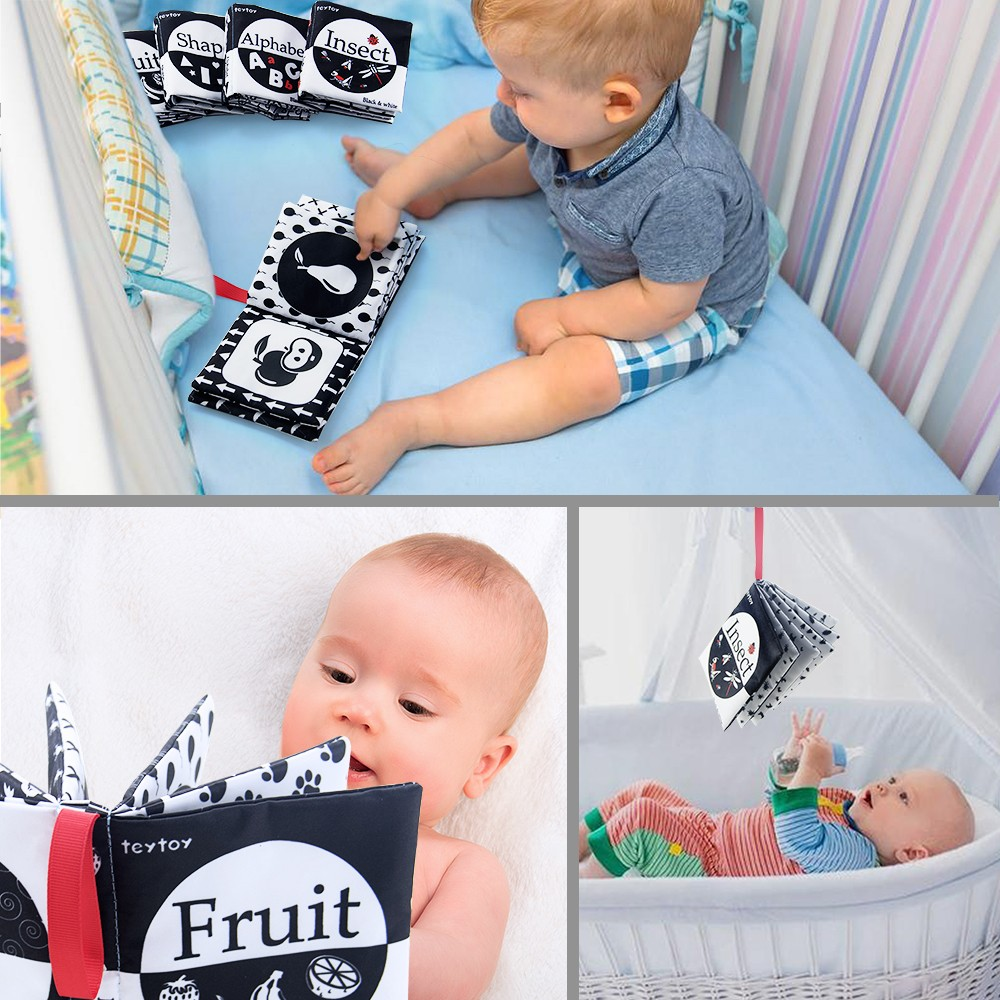 Black and White Montessori Cloth Book Set 2