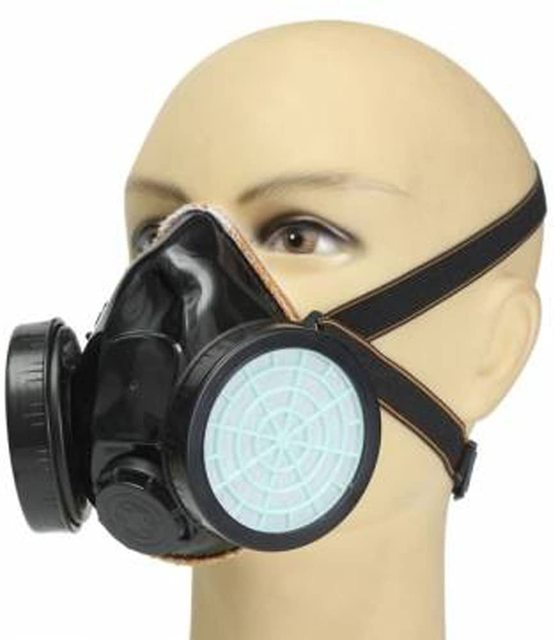 Anti-Dust Masks Gas Spray Paint Dual Respirator Industrial Chemical Mask 1