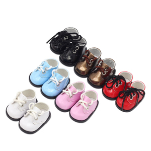 Image 3 - New Arrival 5cm PU Shoes For BJD Doll 14 INCH Fashion Mini Doll Shoes for EXO Russian DIY Handmade Doll Accessories