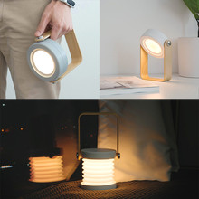 Portable warm white  Lanterns level 3 brightness hanging tent usb rechargeable flashlight built-in1200 mAh lithium battery D4